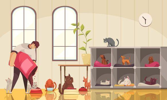 Pet Sitter Work Composition