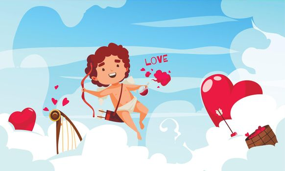 Cupid In Clouds Composition