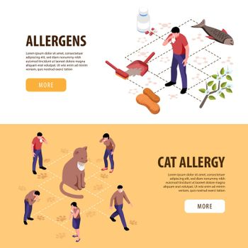 Isometric Allergy Banners
