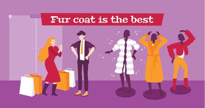 Fur Coat Background