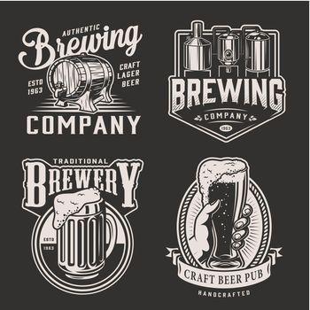 Vintage beer logotypes