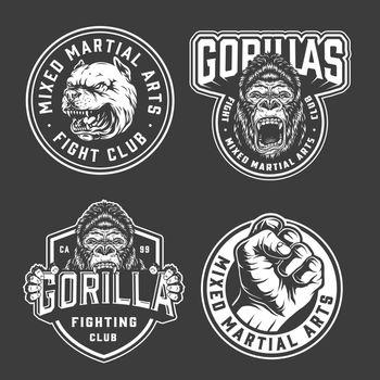 Vintage fight club emblems