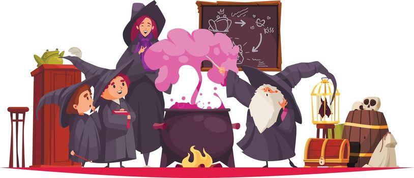 School Of Magic Composition