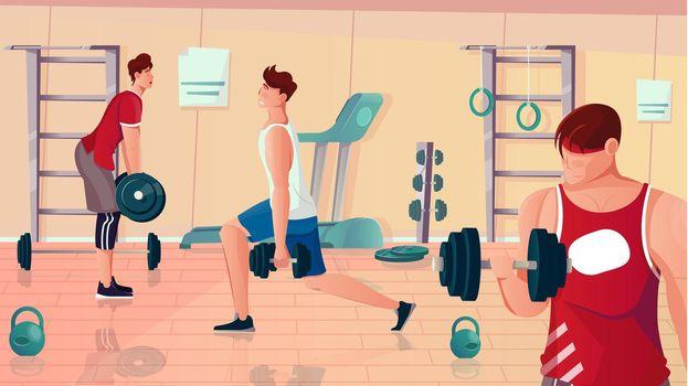 Gym Bodybuilding Flat Composition