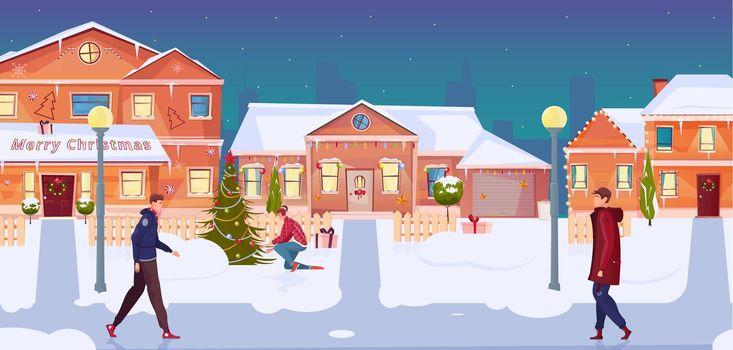 Christmas Houses Illustration