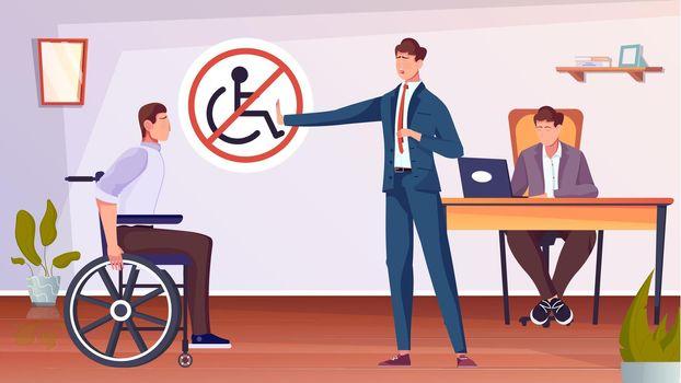 Discrimination Flat Illustration