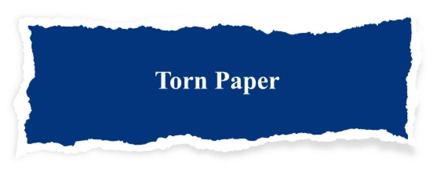 abstract blue torn paper banner design