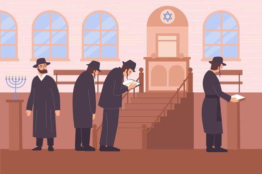 Judaism Religion Flat Composition