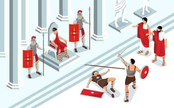 Ancient Gladiators Fight Composition
