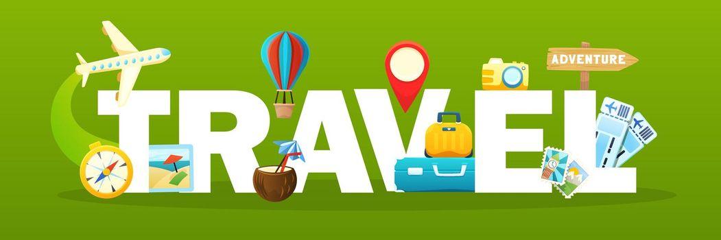 Travel Text Illustration