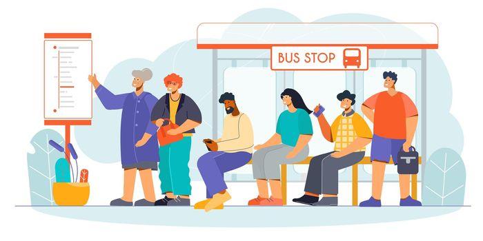 Public Transport Stop Flat
