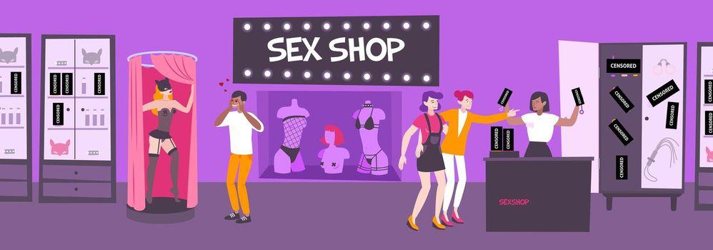 Inside Sex Shop Composition