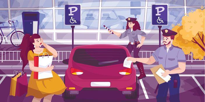 Traffic Police Background Illustration