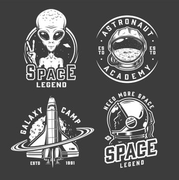 Space and galaxy logotypes