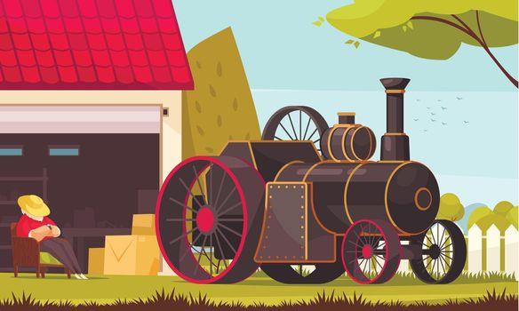 Steam Engine Car Composition