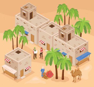 Tourism Egypt Isometric Composition