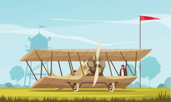 Vintage Airplane Transport Composition