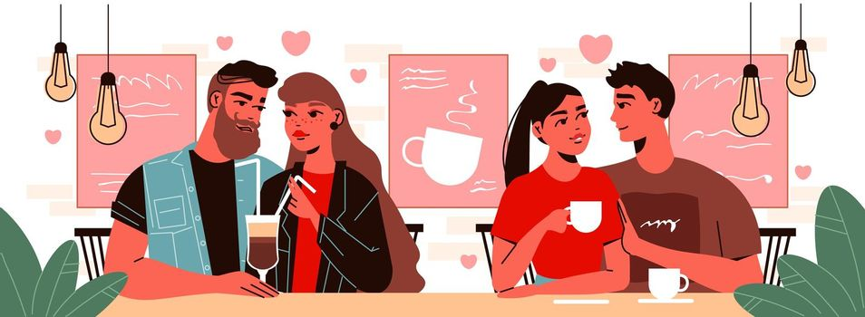 Date In Cafe Composition