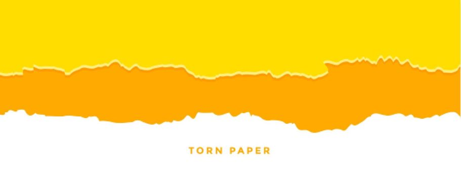 orange and yellow torn paper effect banner