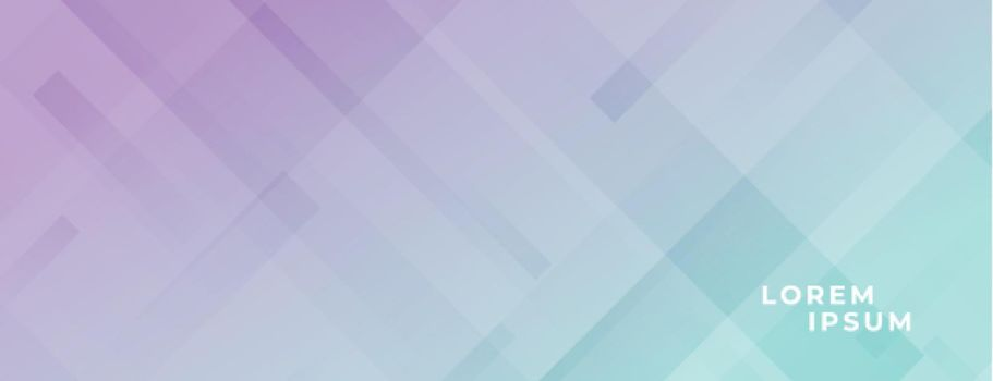 abstract modern wide banner in pastel colors and diagonal lines