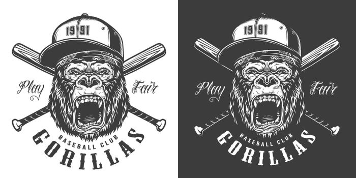 Baseball club mascot label