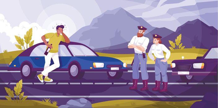 Traffic Police Patrol Background