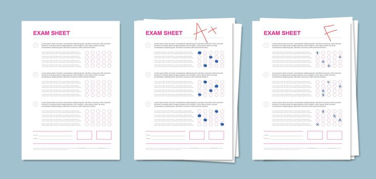 Realistic Exam Sheet Set