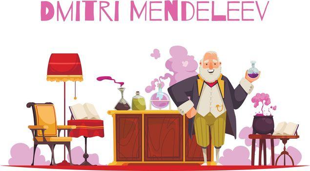 Doodle Mendeleev Chemistry Composition