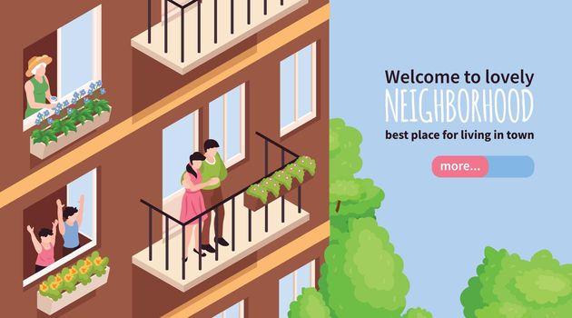 Neighbors Isometric Banner