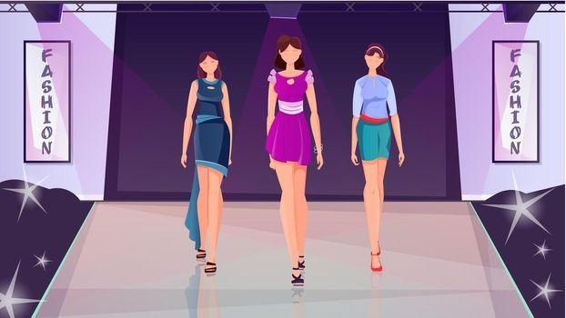Fashion Show Flat Background
