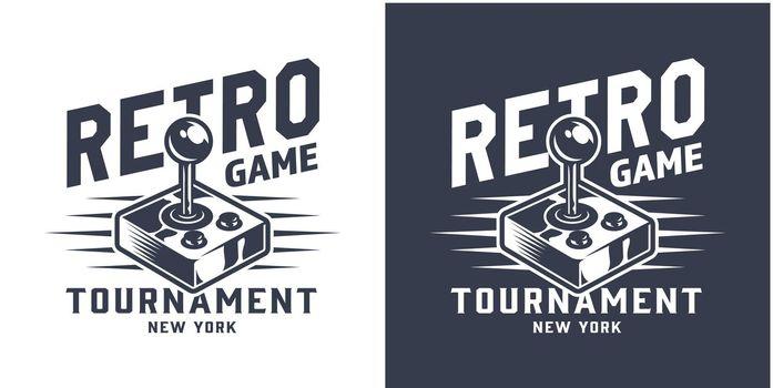 Monochrome gamepad or joystick logotype