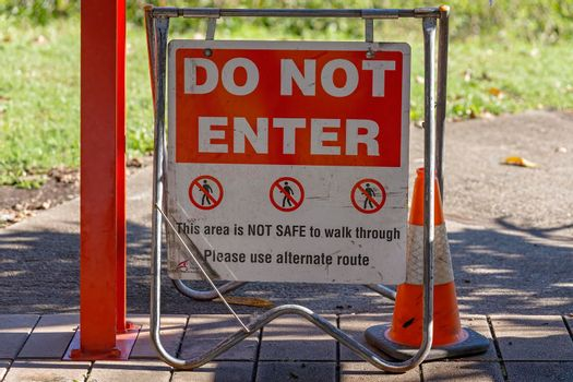 Do Not Enter Walking Track Sign