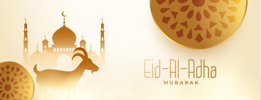 eid al adha kurbani festival of bakrid banner