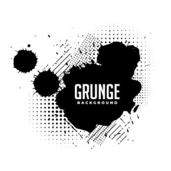 ink splatter grunge texture with halftone effect