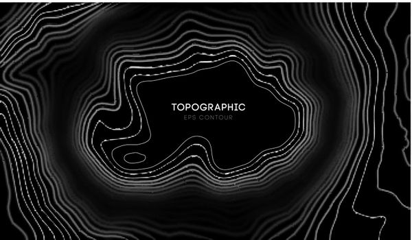 Vector Topographic map with blur effect contour background. Topo map with elevation. Contour map vector. EPS 10.