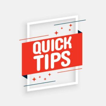 Stylish quick tips advice on white background