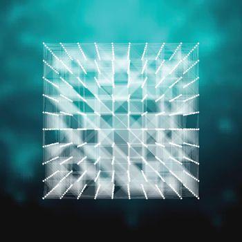 Vector glass - cube illustration . HUD element