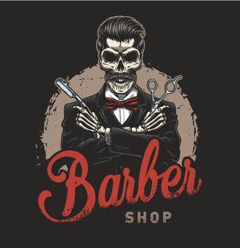 Vintage barbershop logotype