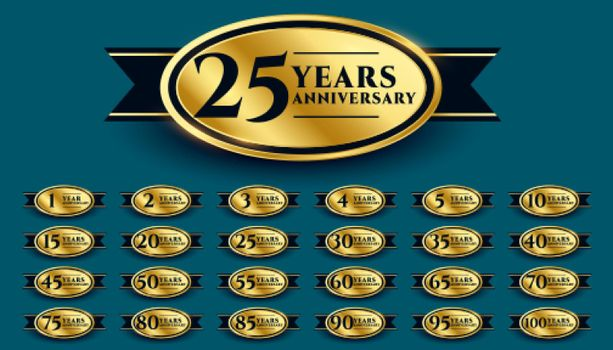 styligh golden anniversary label design