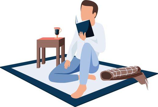 Person Reading Vector Illustration