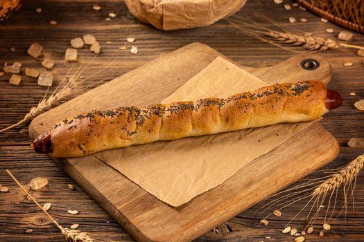 Homemade long bun