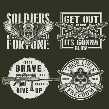 Vintage military logos