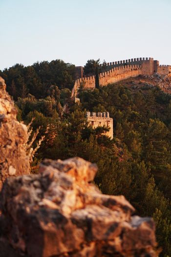 Castle of Alanya overlooking the city, one of the famous destinations in Turkey