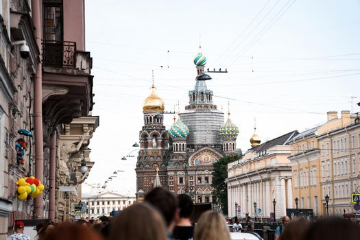The Church of the Resurrection of Jesus Christ at St Petersburg in Russia