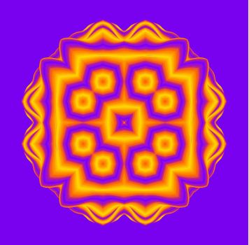 Optical illusion lines background. Abstract 3d purple and yellow illusions. EPS 10 Vector illustration