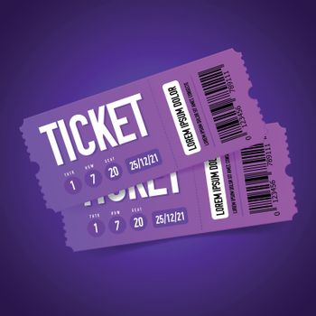 Event Tickets Realistic Composition