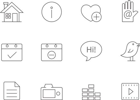 Outline Icons - Personal Portfolio