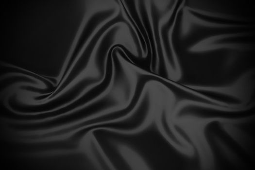 Blue silk velvet satin fabric cloth wave background.
