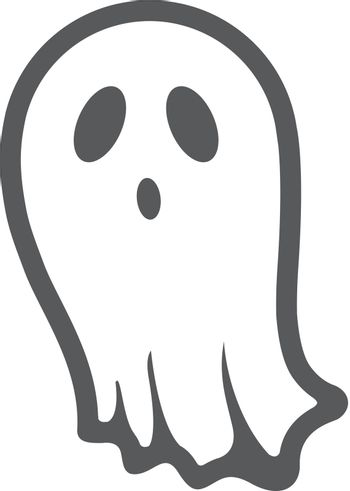 BW Icons - Halloween ghost