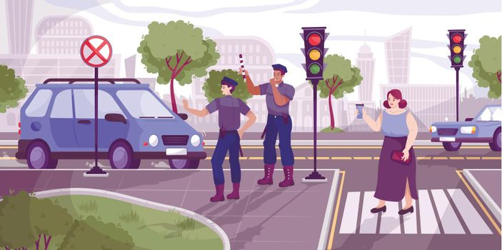Traffic Police Illustration